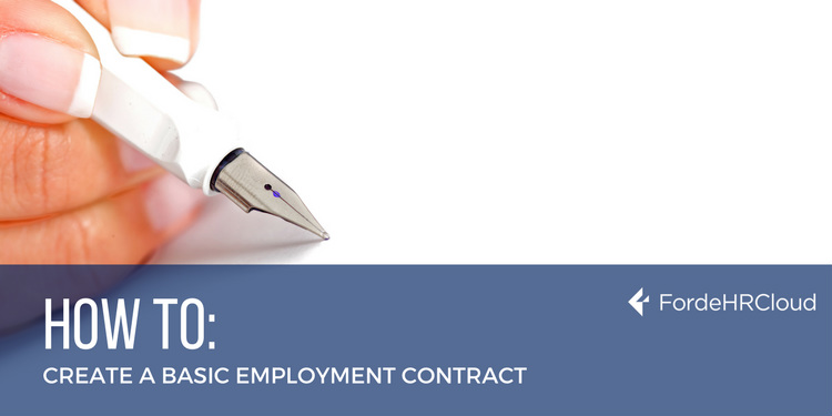 Creating a Basic Employment Contract – Main Terms & Conditions Required